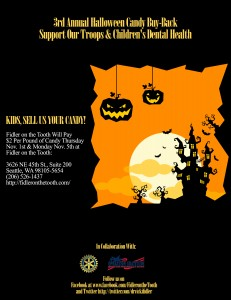 Flier for the 3rd annual Halloween Family Buy-Back