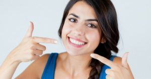 Young woman smiling at Seattle Dentist Office