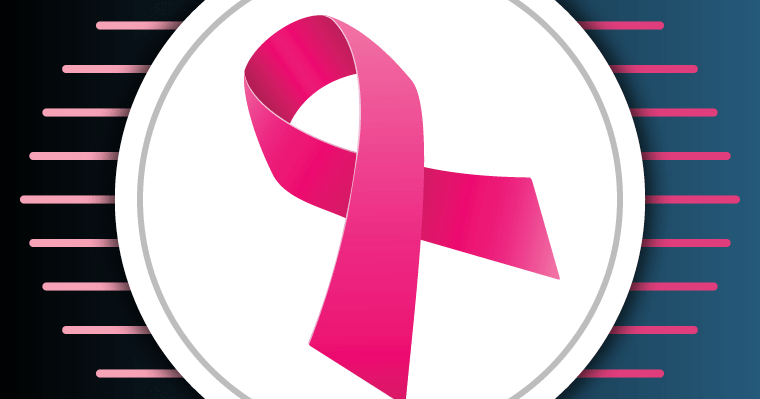 A Pink Ribbon for Raising awareness about Breast Cancer