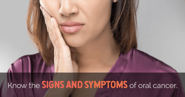 signs and symptoms of oral cancer