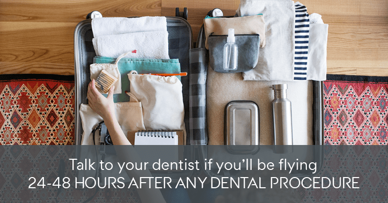 Flying after tooth extraction can result in discomfort, but there are things you could do to help.