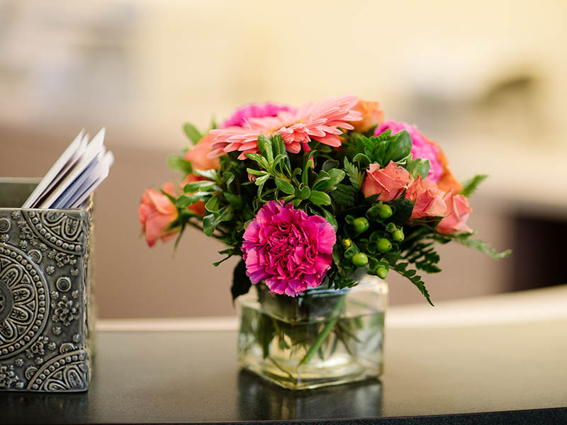 image of flower on a counter